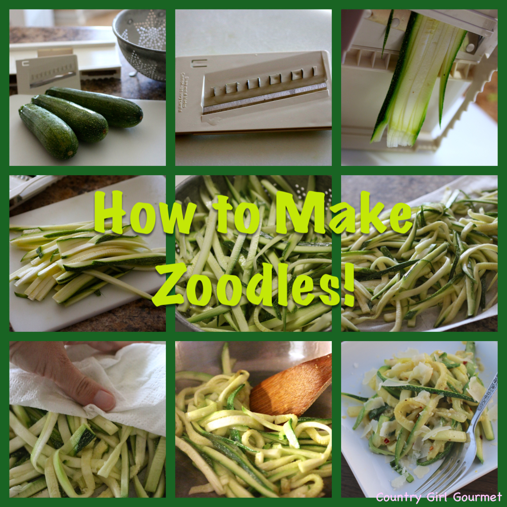 How to Make Zoodles! | Country Girl Gourmet