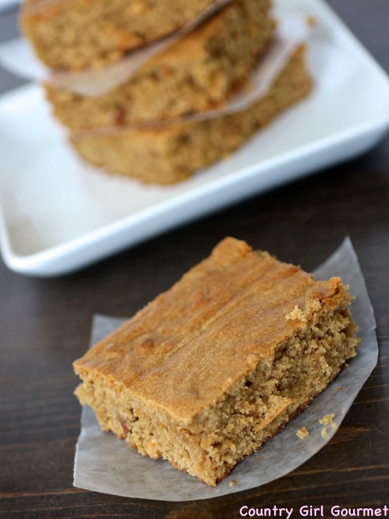 Peanut Butter Blondie Brownies | Country Girl Gourmet