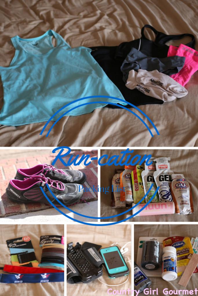 Runcation Packing List | Country Girl Gourmet