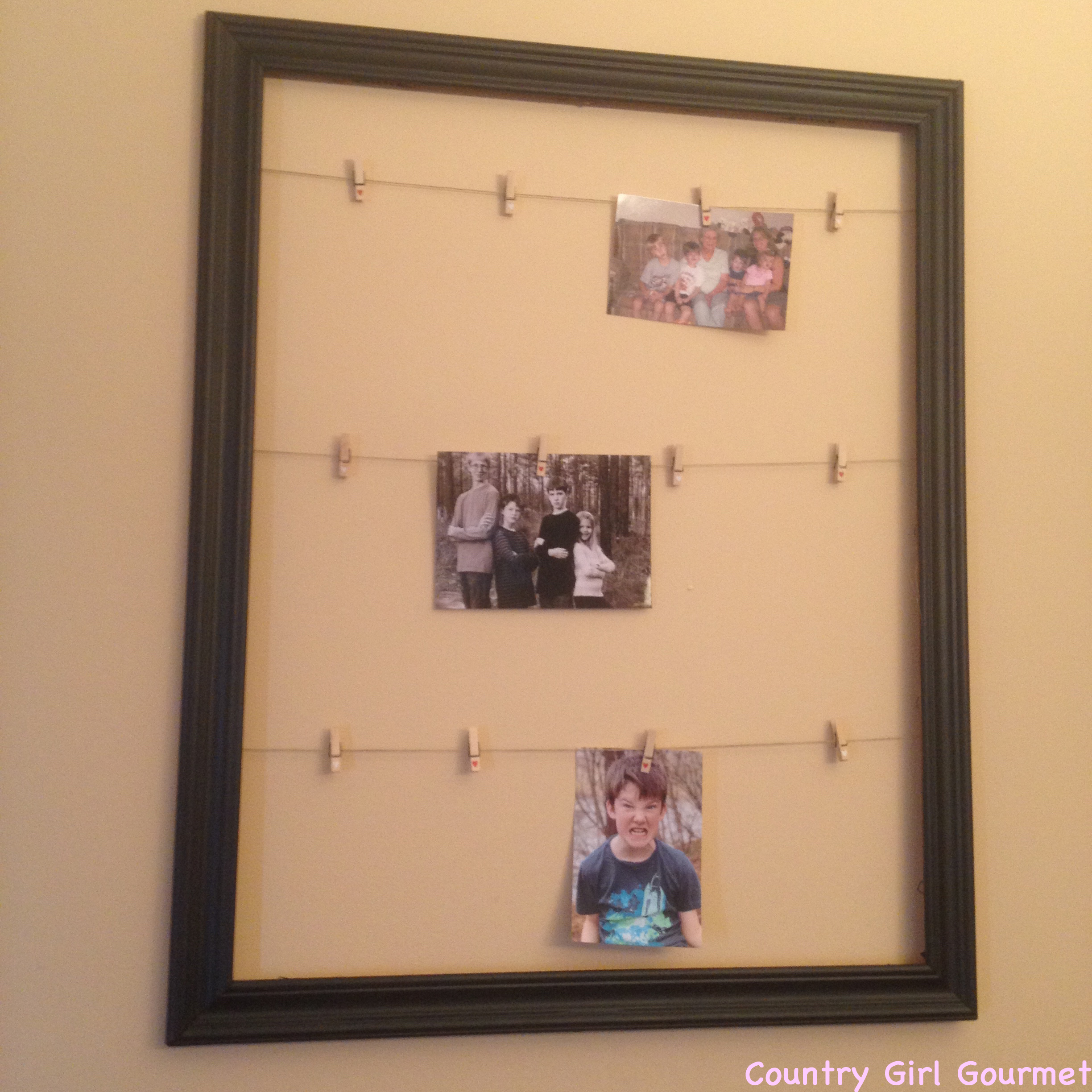 diy collage picture frame country girl gourmet