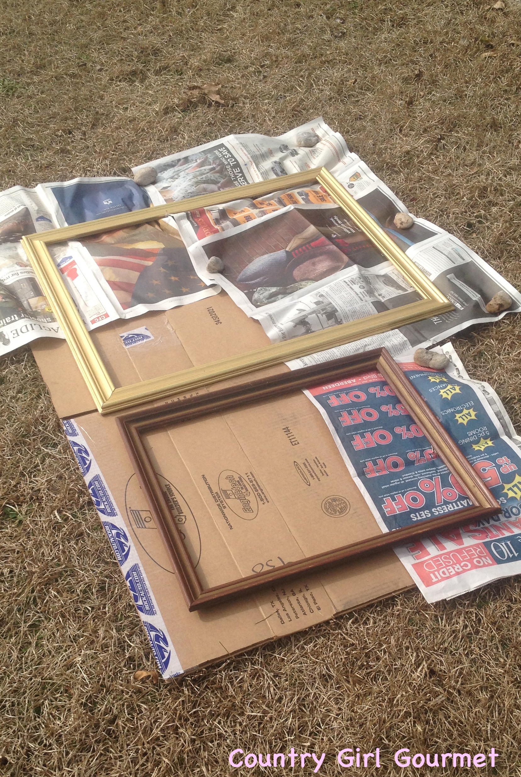 diy collage picture frame country girl gourmet - Diy Collage Frame