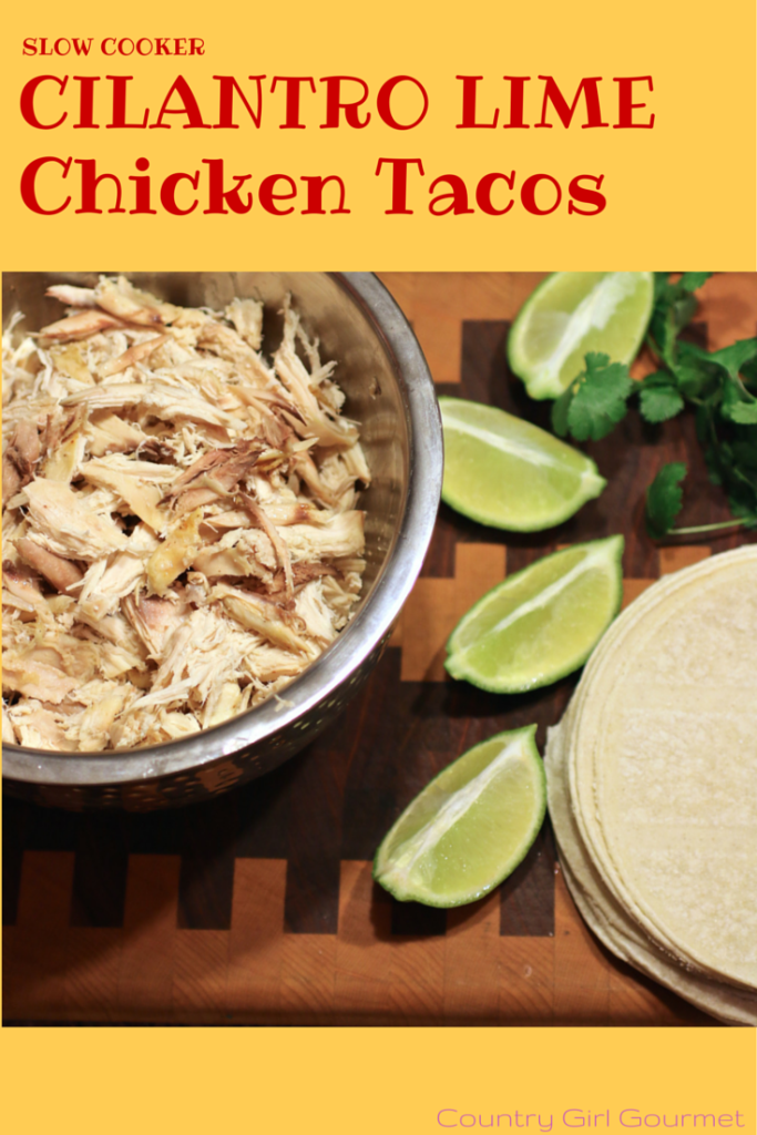 Slow Cooker Cilantro Lime Chicken Tacos * My Hot Southern Mess
