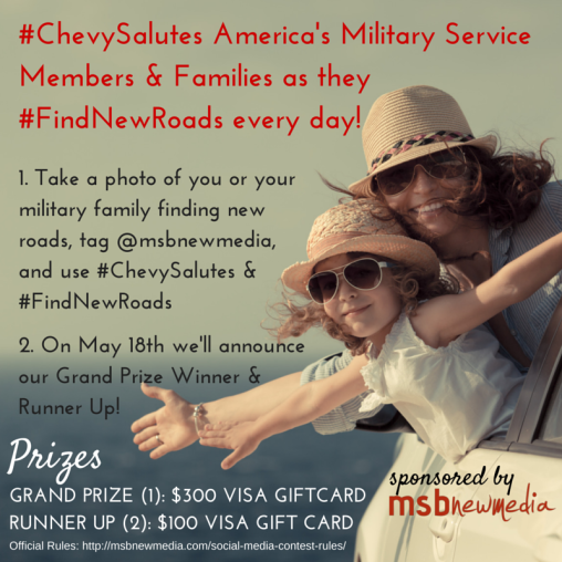 #chevysalutes contest on instagram!