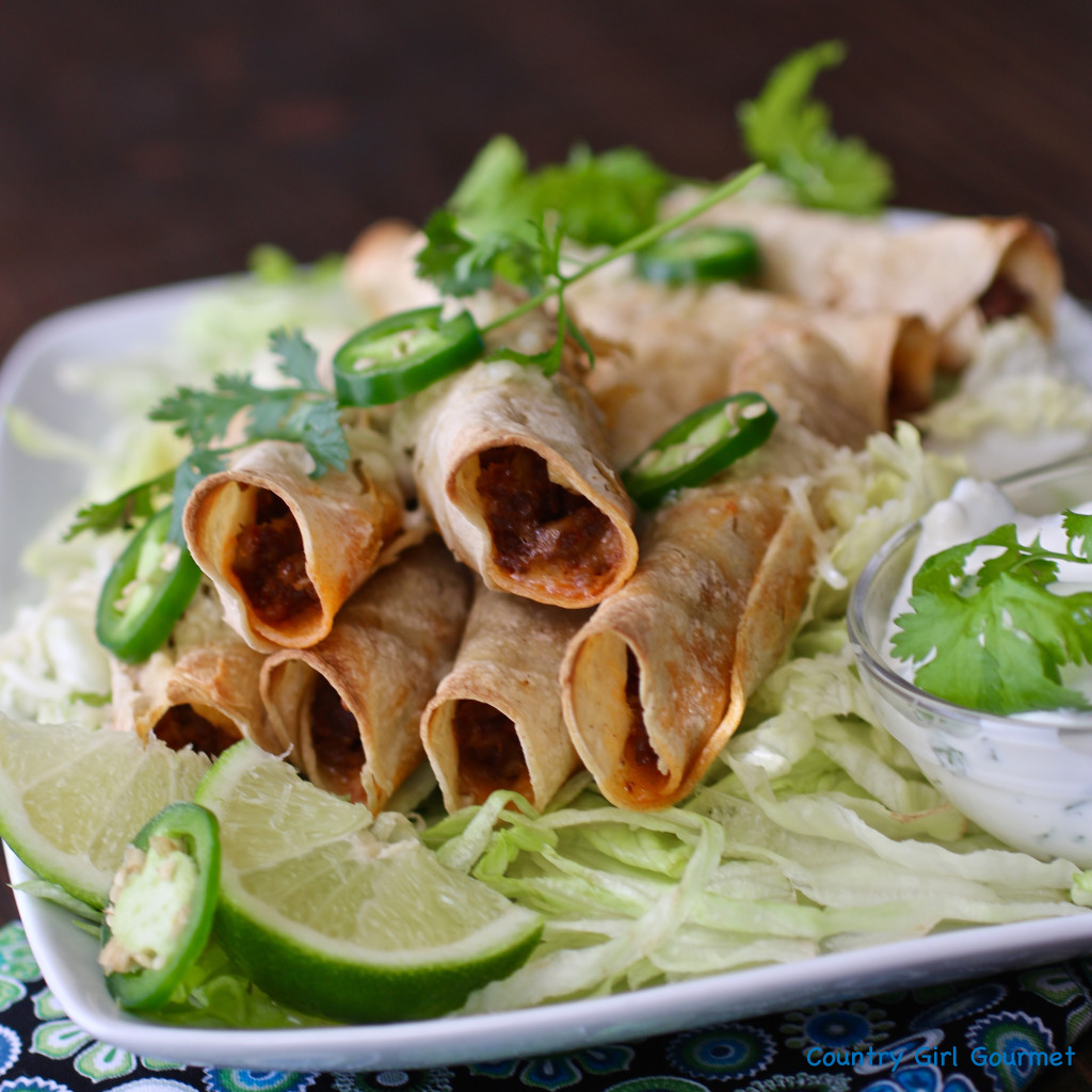 Easy Chorizo and Cheese Taquitos | Country Girl Gourmet