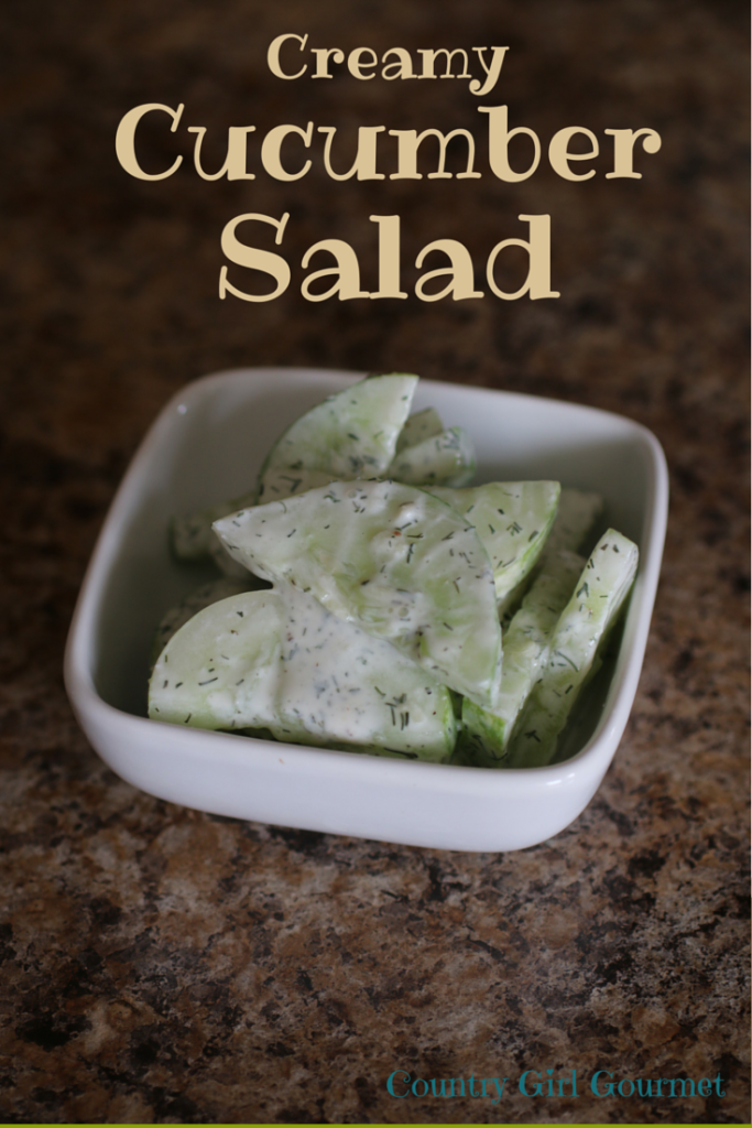 Creamy Cucumber Salad | Country Girl Gourmet
