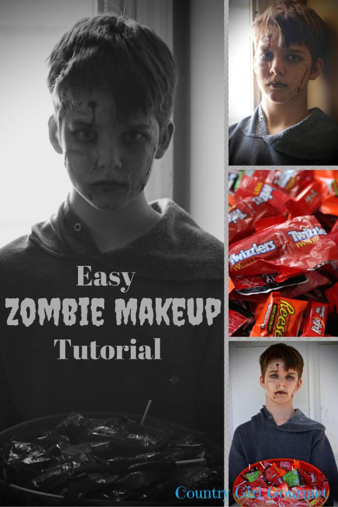 Easy Zombie Makeup Tutorial | Country Girl Gourmet