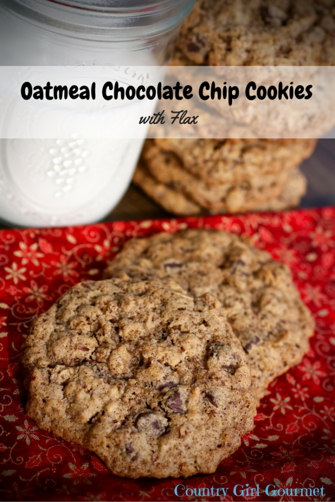 Oatmeal Chocolate Chip Cookies with Flax | Country Girl Gourmet