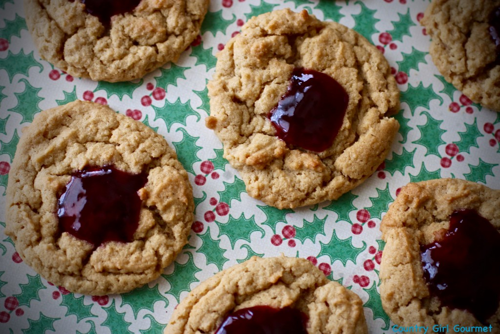 Peanut Butter and Jelly Thumbprint Cookies   Country Girl Gourmet