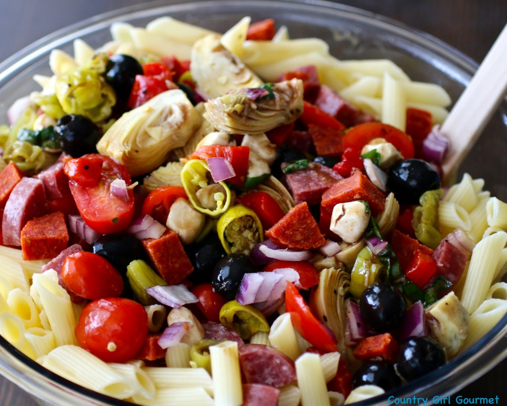 Easy Antipasto Salad | Country Girl Gourmet