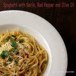 spaghetti with garlic red pepper and olive oil