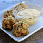 Gluten Free Johnsonville Sausage Balls with Spinach | Country Girl Gourmet