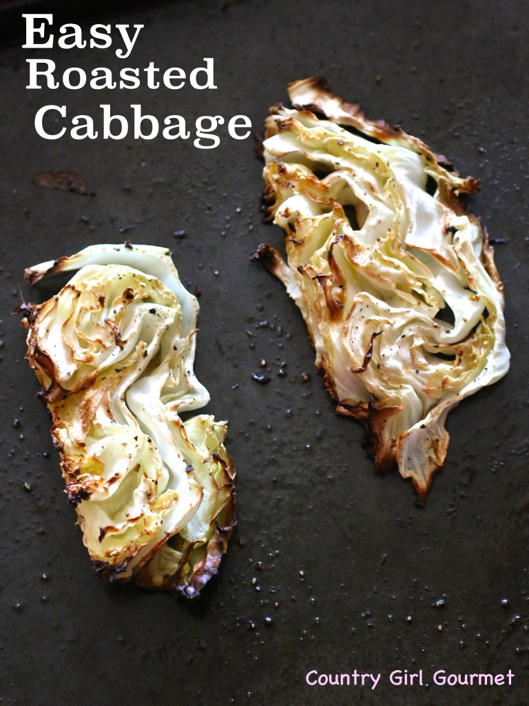 Easy Roasted Cabbage | Country Girl Gourmet