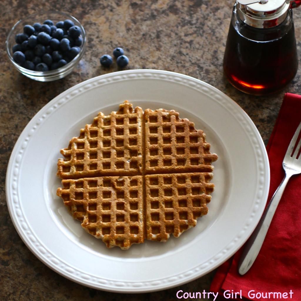 Healthy Multigrain Chia Waffles | Country Girl Gourmet