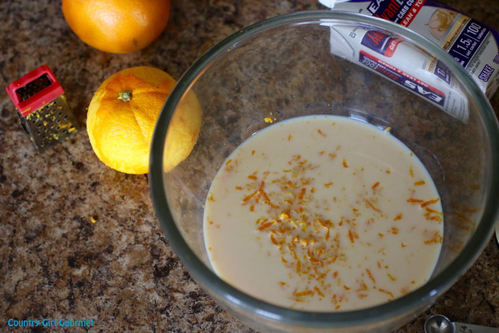 Protein Creamsicle Sherbet | Country Girl Gourmet