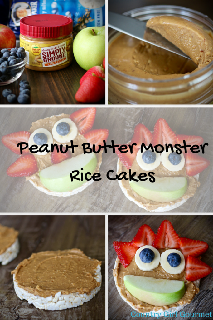 Peanut Butter Monster Rice Cakes | Country Girl Gourmet