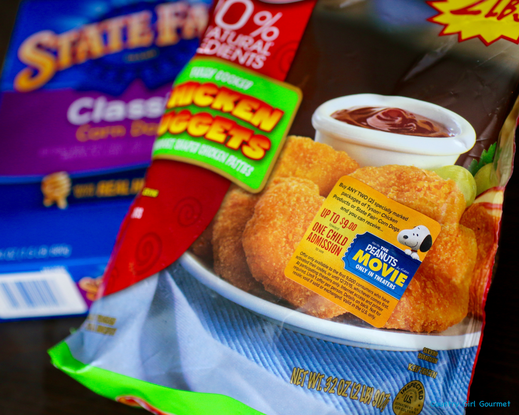 #ad Tyson Nuggets, State Fair Corn Dogs, Chipotle Honey Mustard & the Peanuts Movie |Country Girl Gourmet