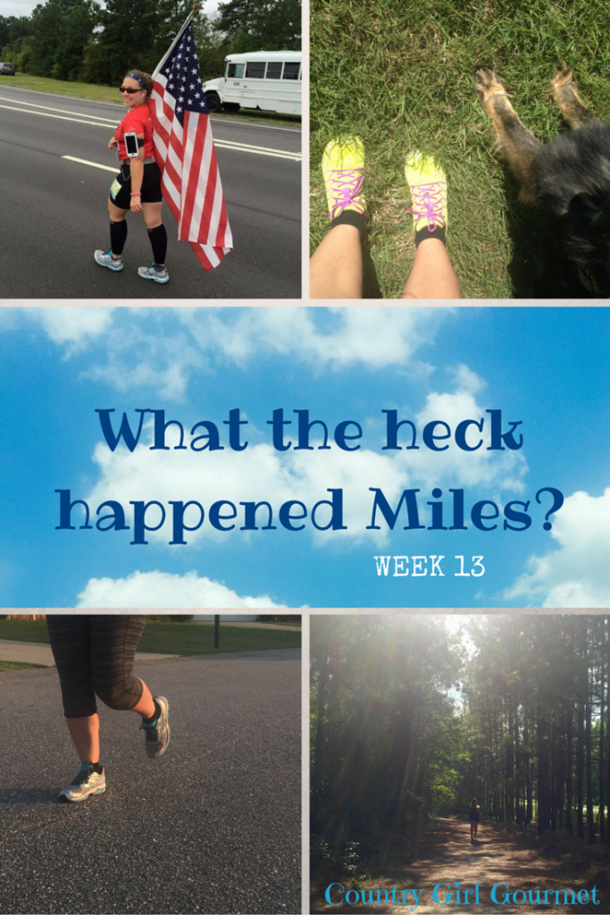 Week 13 Miles | Country Girl Gourmet