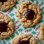 Peanut Butter and Jelly Thumbprint Cookies | Country Girl Gourmet