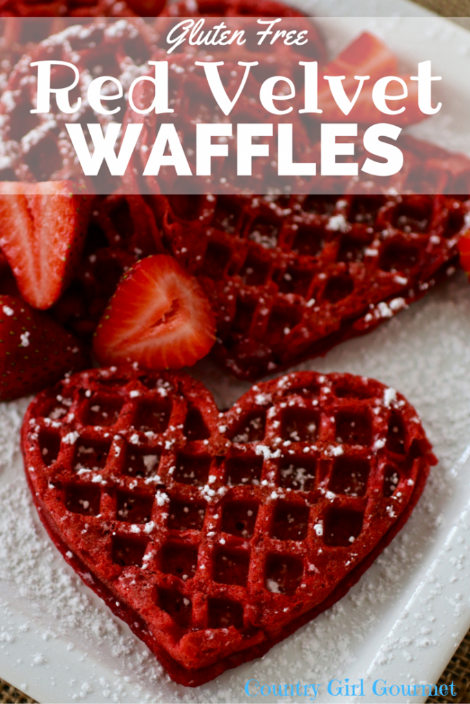 Gluten Free Red Velvet Waffles | Country Girl Gourmet